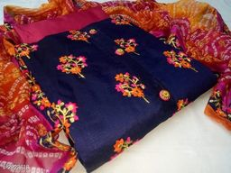 Chanderi Silk Embroidery Suits & Dress Material