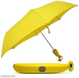 Decent Star Banan Design Umbrella Portable Lightweight Umbrellas Fashion Banana Shaped Umbrellas Rain Sun Umbrella for Women