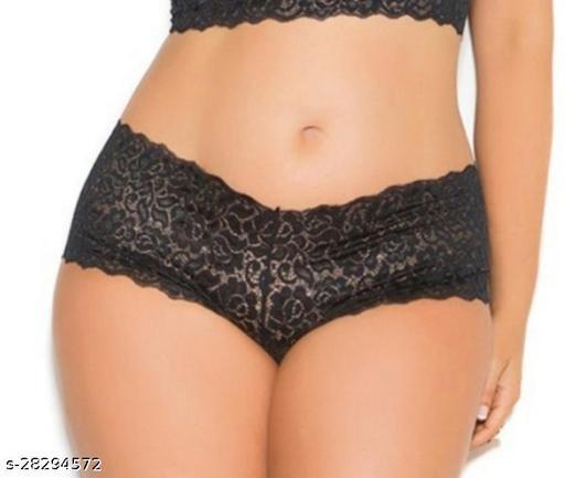 Women Hipster Black Lace Panty