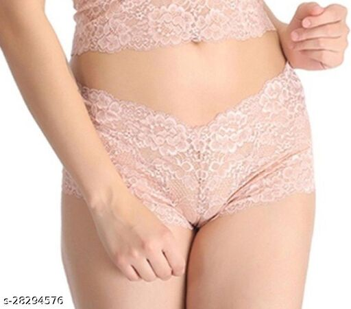Women Hipster Pink Lace Panty