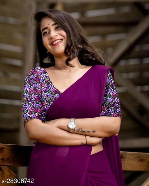 SATIN BANGLORI SILK WITH DIGITAL PRINT BLOUSE WOMANS BEST SAREES