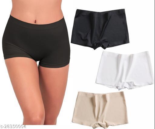 Women Boy Shorts Multicolor Cotton Panty (Pack of 3)