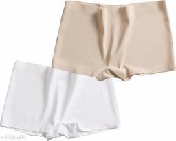 Women Boy Shorts Multicolor Cotton Panty (Pack of 2)