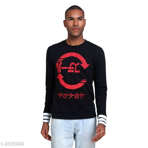 Sweatshirts Trendy Cotton Men's Sweat Shirt  *Fabric* Cotton  *Sleeves* Sleeves Are Included  *Size* S, M, L, XL, XXL (Refer Size Chart)  *Color* Black  *Length* Refer Size Chart  *Type* Stitched  *Description* It Has 1 Piece Of Men's Sweat Shirt  *Work* Printed  *Sizes Available* S, M, L, XL, XXL *    Catalog Name:  Diva Trendy Cotton Men's Sweat Shirts Vol 3 CatalogID_384948 C70-SC1207 Code: 433-2835242-
