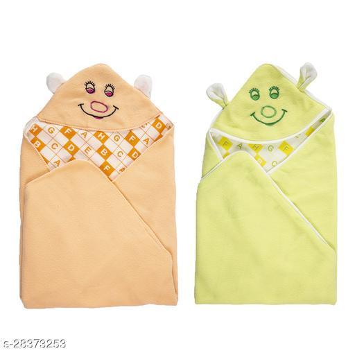 BABYZONE Super Soft AC Blankets Cum Wrapper Pack Of 2