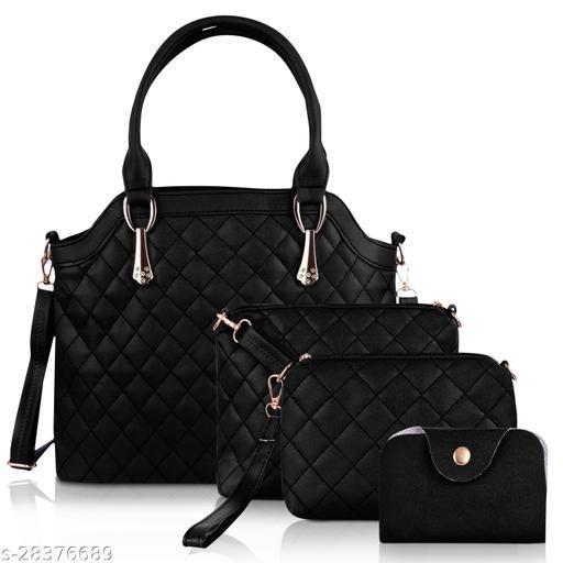 STYLISH LADIES BLACK HAND-HELD BAG