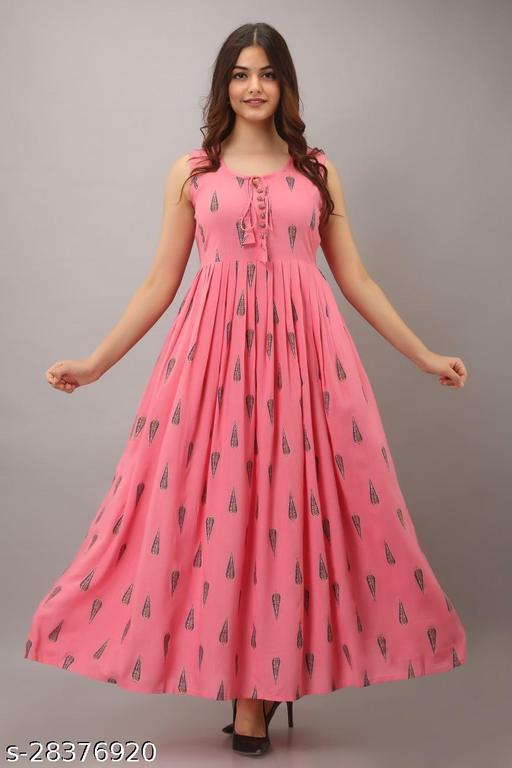 WOMEN ETHNIC PRINTED DRESS PINK