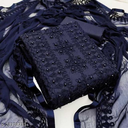 Trendy Voguish Semi-Stitched Suits materials