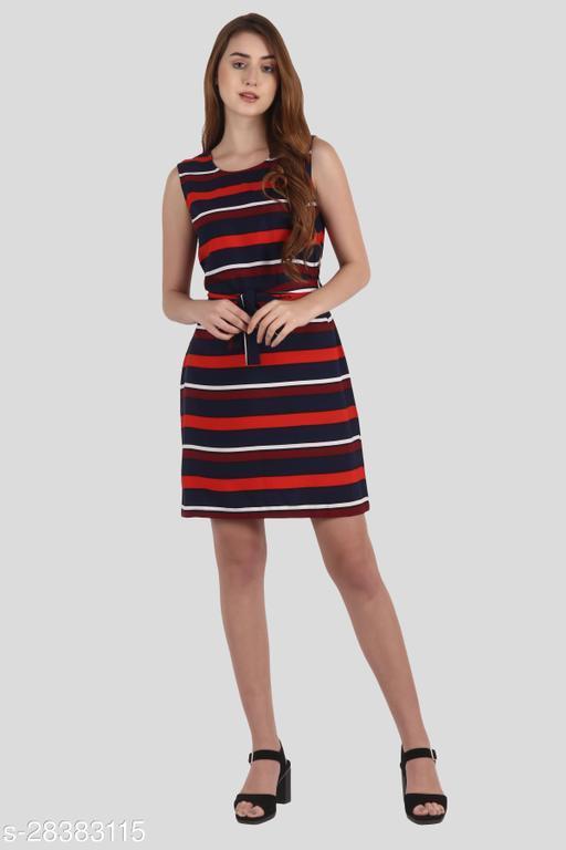 My Swag Women Multi Color Sheath Stripe Mini Dress