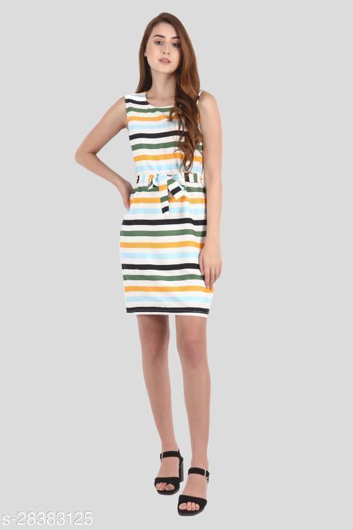 My Swag Women Multicolor Color Sheath Stripe Mini Dress