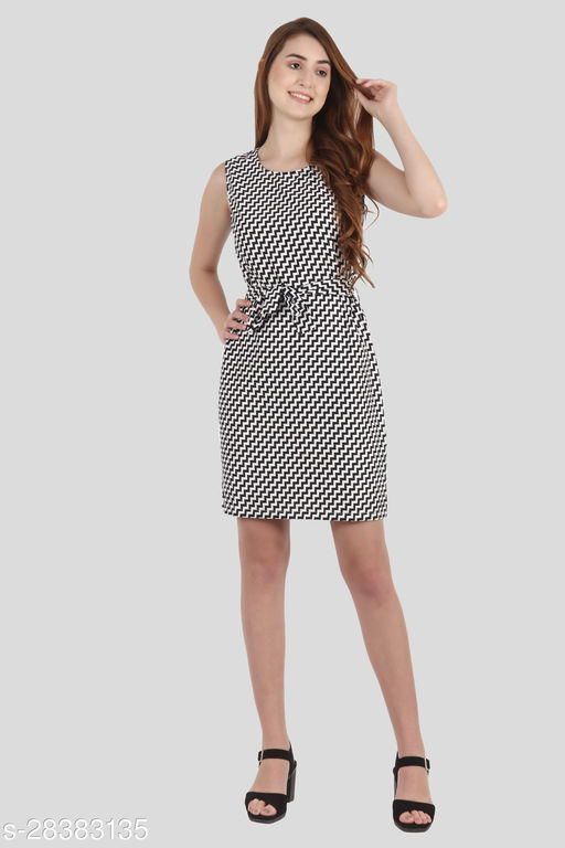 My Swag Women Multi Color Sheath Zigzag Mini Dress