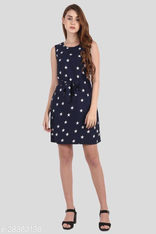 My Swag Women Blue Color Sheath Printed Mini Dress