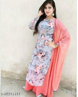 Adorning multi Colored Partywear Digital Printed Georgette Gown