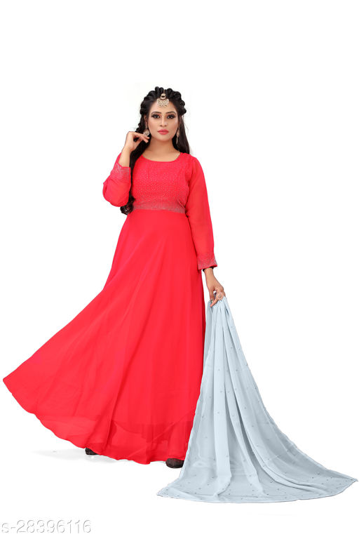 Exclusive Royal Pink Colored Gown
