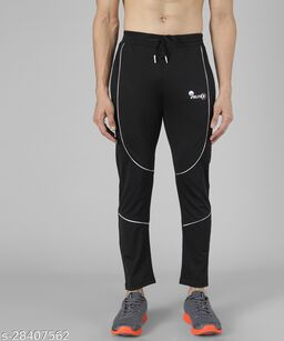 Veltick Men's Lycra Black Track Pant