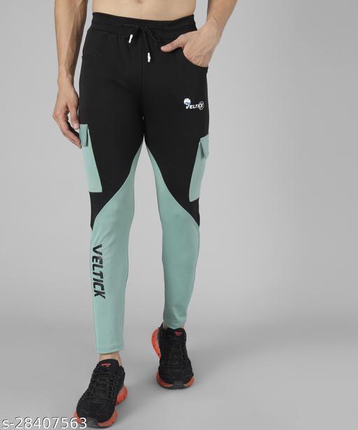 Veltick Men's Lycra Multicolor Track Pant