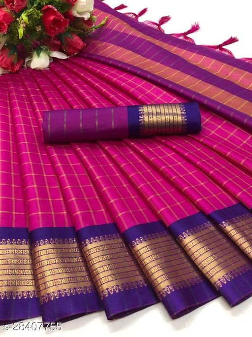 Looking For This Celebrities Designer Saree On Premium Soft Silk WITH Contrass pallu and Blouse