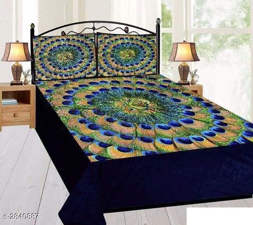 Amazing Velvet Printed Double Bedsheet