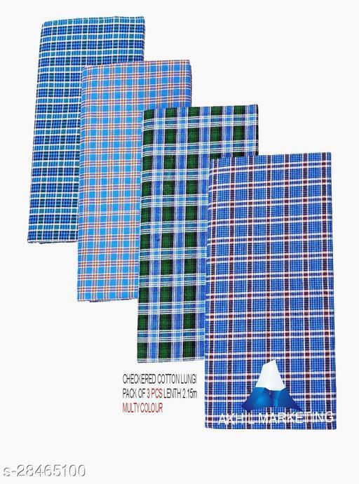 CHEKERD COTTON LUNGI (Same Colour)