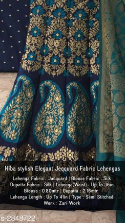 Voguish Elegant Jacquard Fabric Lehenga