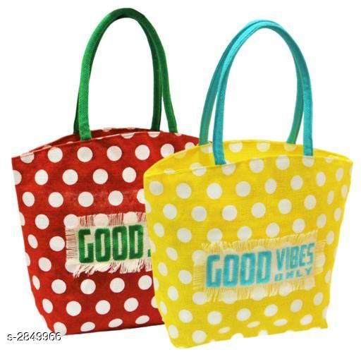 Attractive Women's Multicolor Jute Handbag