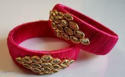 Classy Silk Thread Bangle(Pack Of 2)