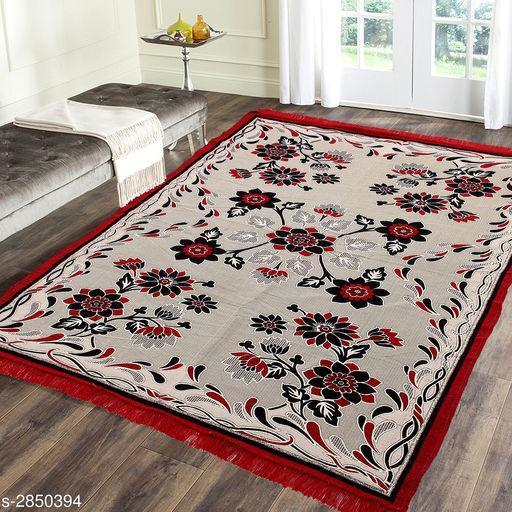 Trendy Jute & Cotton Printed Carpet