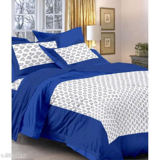 Elegant Cotton Printed Double Bedsheet