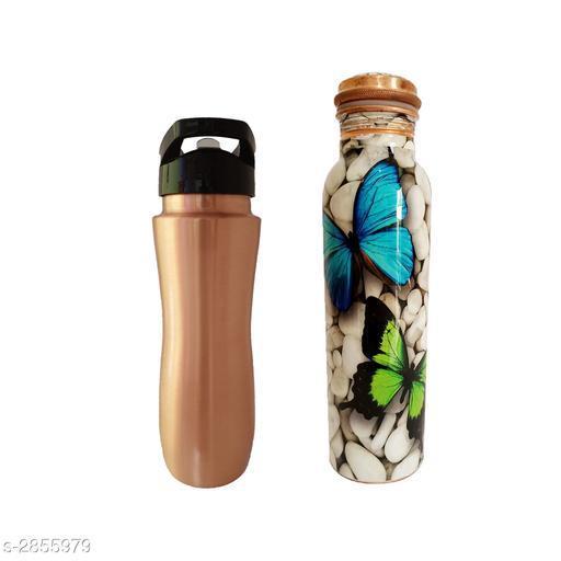 Trendy Copper Bottle & Sorts Sipper (Pack Of 2)