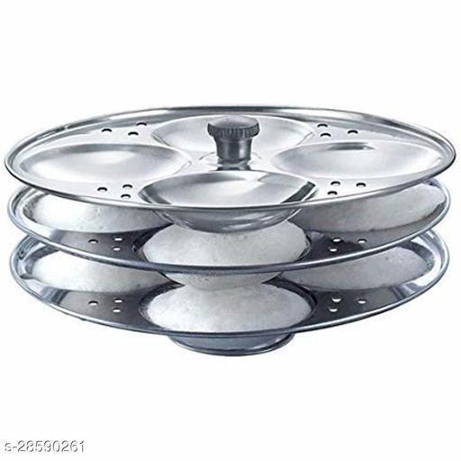 Stainless Steel Idli Stand 3 Plate Makes 12 Idlis