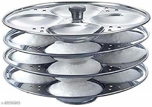 Stainless Steel Idli Stand 4 Plate Makes 16 Idlis