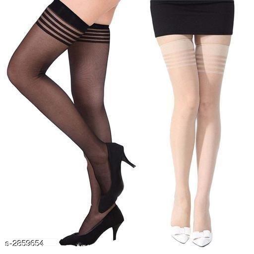 Comfy Ladies Nylon Stockings & Pantyhose (Pack Of 2)