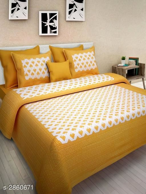 Supreme 100% Cotton Printed Double Bedsheet