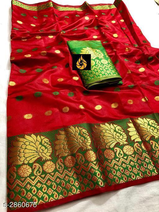 Fabulous Soft Cotton Silk Women's Saree
