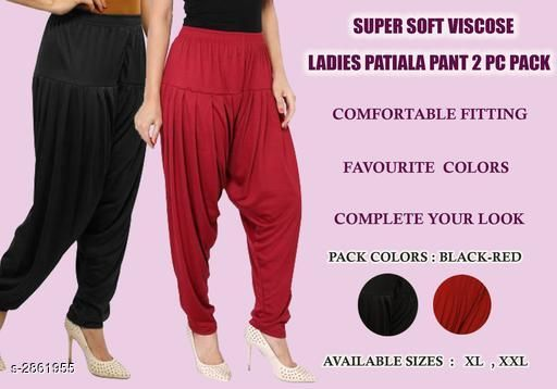 Fabulous Viscose Women's Patiala Combo ( Pack Of 2)