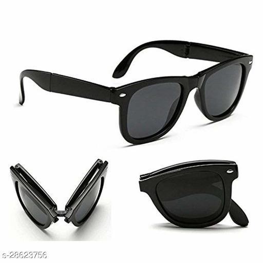 Stylish Black Foldable Wayfarer Sunglasses For Men And Women Unisex