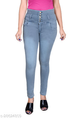 5 Button Denim Jeans