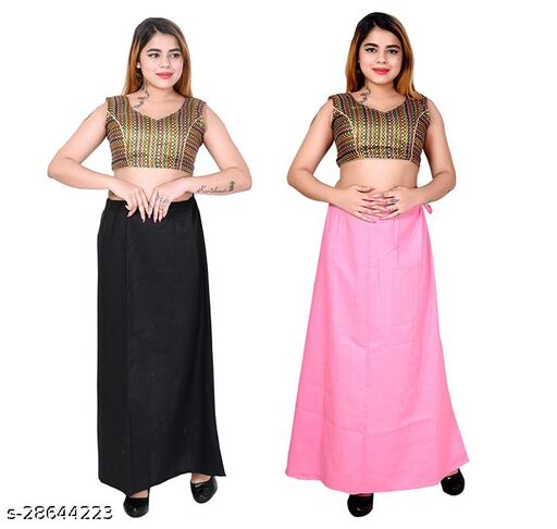Riwaz Trendz Petticoat Inskirt For women in Latest Collection (Black, Pink)