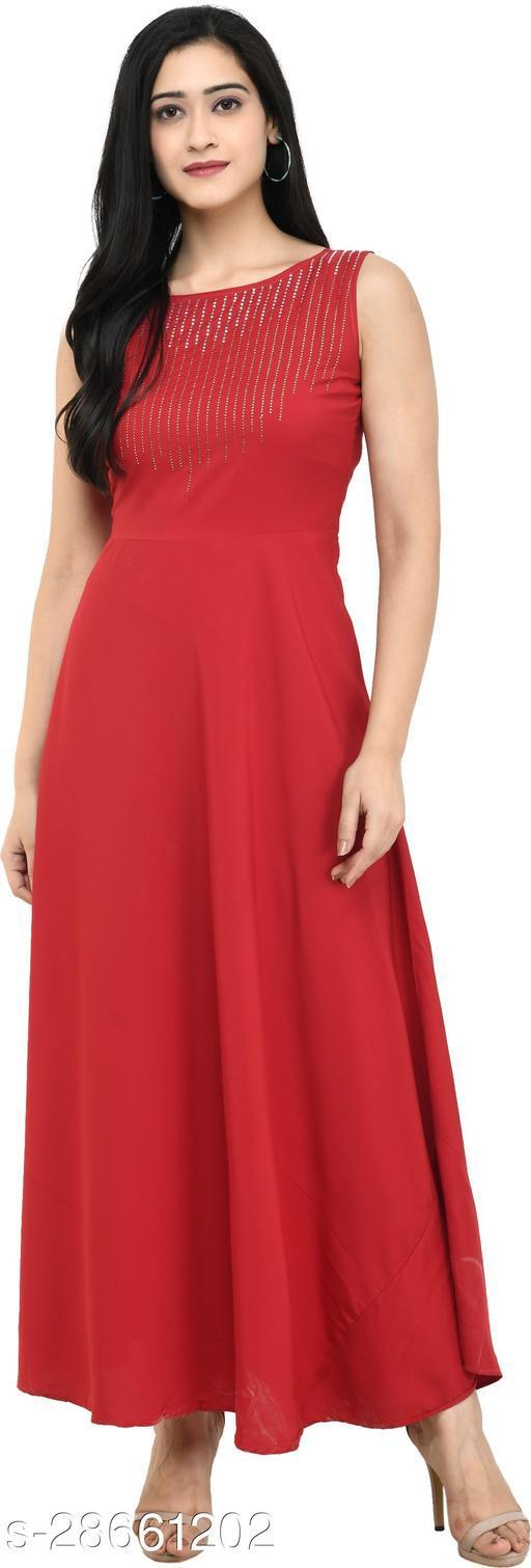 IQRA FASHION Women Maxi Maroon Dress