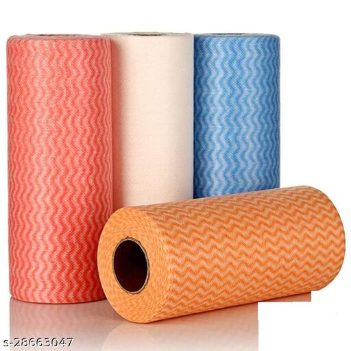 Non Wooven Fabric Disposable Handy Wipe Cleaning Cloth Roll