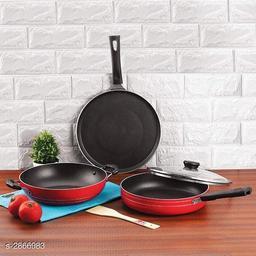 Kadai,   Fry Pan &  Dosa Tawa (Pack Of 3)