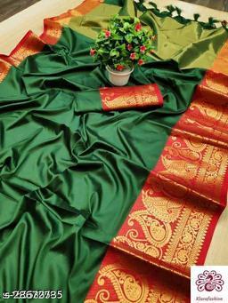 soft silk jacquard woven saree .