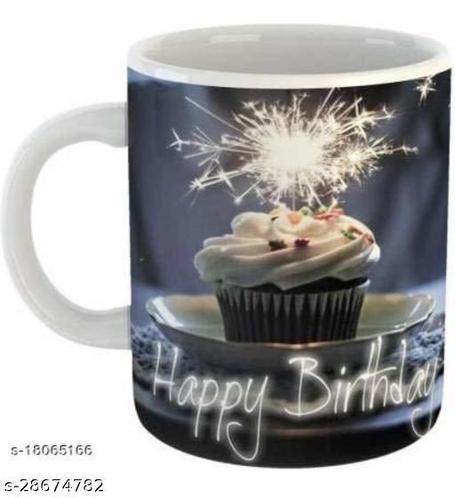 VEENI SPARKLING MUG CAKE HAPPY BIRTHDAY PRINTED MUG