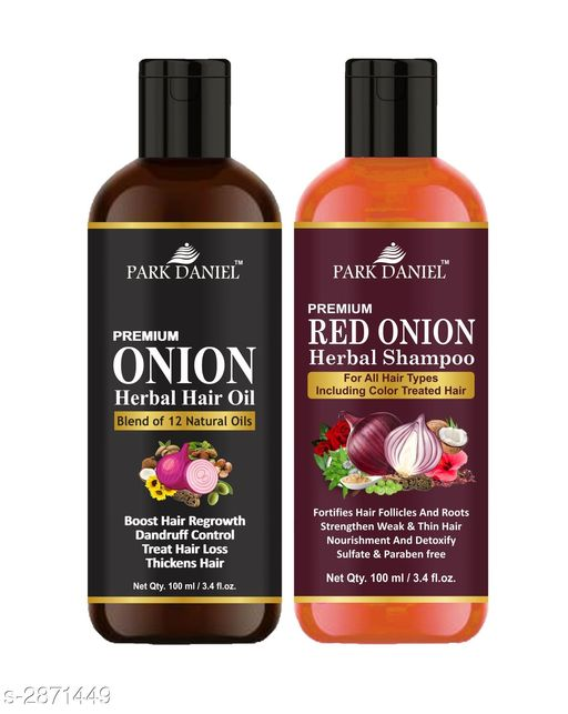 Park Daniel Premium Choice Hair Care Onion Oil And Red Onion Shampoo Combo (Pack Of 2)