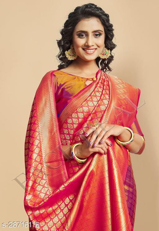 Beautiful Designer Two Tone Kanjeevaram Silk Saree