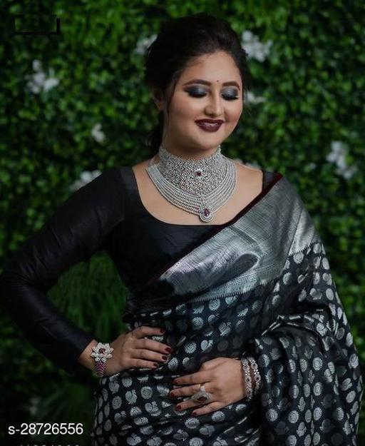 Beautiful Banarasi Silk Designer Saree with Blouse Piece for Women