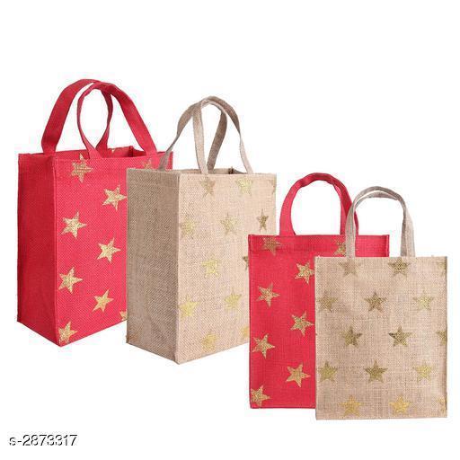 Attractive Women's Multipack Red Jute Handbag