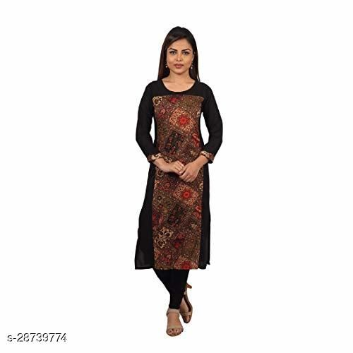 Dream Desi Women's Rayon Straight Kurti for All Plus Size and Small Size