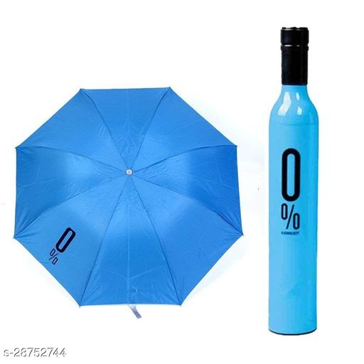 Seetu Unique water bottle Bottle umbrella Double Layer Inverted Colourful Umbrella for Men-Women with C-Shaped Handle Anti UV Protection Waterproof-Windproof Car Rain Outdoor Use Umbrella (Random Colors) (Bottle Umbrella)
