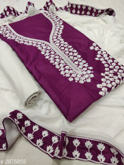 Cotton Embroidery Suits & Dress Material